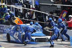 NASCAR: March 11 Ticket Guardian 500k. March 11, 2018 - Avondale, Arizona, USA: Kyle Larson 42 makes a pit stop for the Ticket Guardian 500k at ISM Raceway in stock photography