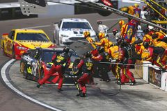 NASCAR: March 11 Ticket Guardian 500k. March 11, 2018 - Avondale, Arizona, USA: Martin Truex, Jr 78 makes a pit stop for the Ticket Guardian 500k at ISM Raceway royalty free stock photos