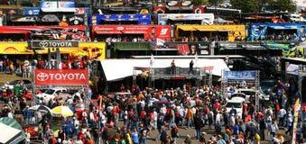 NASCAR - Mare variopinto dei ventilatori a Martinsville immagine stock
