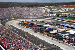 NASCAR - Martinsville front stretch Royalty Free Stock Image
