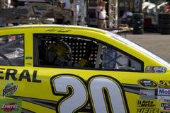 NASCAR Matt Kenseth at Phoenix International Raceway. Seeing inside the cockpit of Matt Kenseth's car Stock Photos