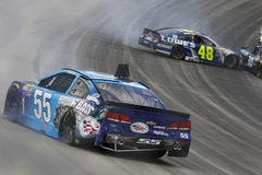 NASCAR: May 15 AAA 400 Benefiting Autism Speaks. Dover, DE - May 15, 2016: Jimmie Johnson (48) and Reed Sorenson (55) wreck the AAA 400 Benefiting Autism Speaks Royalty Free Stock Photo