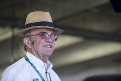 NASCAR: May 28 Coca-Cola 600. Concord, NC - May 28, 2016: Jack Roush hangs out in the garage during practice for the Coca-Cola 600 at the Charlotte Motor royalty free stock images