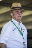 NASCAR: May 28 Coca-Cola 600. Concord, NC - May 28, 2016: Jack Roush hangs out in the garage during practice for the Coca-Cola 600 at the Charlotte Motor stock photo