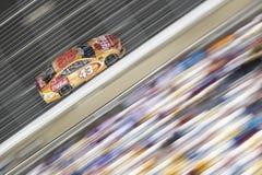 NASCAR: May 26 Coca-Cola 600. May 26, 2019 - Concord, North Carolina, USA: Darrell Wallace, Jr 43 races off the turn during the Coca-Cola 600 at Charlotte Motor stock photography