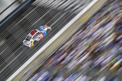 NASCAR: May 26 Coca-Cola 600. May 26, 2019 - Concord, North Carolina, USA: Kyle Busch 18 races off the turn during the Coca-Cola 600 at Charlotte Motor Speedway stock photos