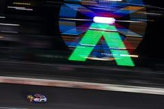 NASCAR: May 26 Coca-Cola 600. May 26, 2019 - Concord, North Carolina, USA: Martin Truex Jr. 19 races off the back stretch during the Coca-Cola 600 at Charlotte royalty free stock image