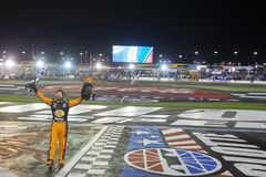 NASCAR: May 26 Coca-Cola 600. May 26, 2019 - Concord, North Carolina, USA: Martin Truex Jr. 19 wins the Coca-Cola 600 at Charlotte Motor Speedway in Concord royalty free stock photos
