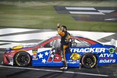 NASCAR: May 26 Coca-Cola 600. May 26, 2019 - Concord, North Carolina, USA: Martin Truex Jr. 19 wins the Coca-Cola 600 at Charlotte Motor Speedway in Concord stock images