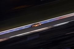NASCAR: May 26 Coca-Cola 600. May 26, 2019 - Concord, North Carolina, USA: Ryan Newman 6 races off the turn during the Coca-Cola 600 at Charlotte Motor Speedway royalty free stock image