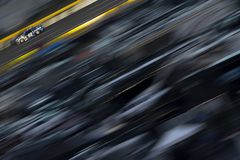 NASCAR: May 27 Coca-Cola 600. May 27, 2018 - Concord, North Carolina, USA: Jimmie Johnson 48 races down the back stretch during the Coca-Cola 600 at Charlotte stock images