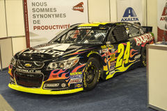 Nascar. Montreal october 10-12, 2014 picture of nascar race car in display during the autorama event stock photo