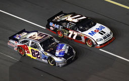 NASCAR - Neck and Neck Racing! Royalty Free Stock Photography