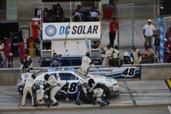 NASCAR: Nov 19 Ford EcoBoost 300. Homestead, FL - Nov 19, 2016: Brennan Poole 48 brings his race car in for service during the Ford EcoBoost 300 at the Homestead stock images