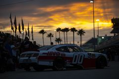 NASCAR: November 16 Ford 300. November 16, 2018 - Homestead, Florida, USA: Cole Custer 00 heads in from practice for the Ford 300 at Homestead-Miami Speedway in royalty free stock photos
