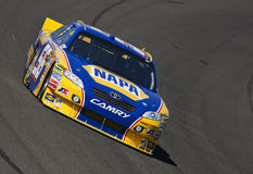 NASCAR:  Oct 08 Pepsi Max 400. FONTANA, CA - OCT 08, 2010:  Martin Truex, Jr. brings his NAPA Chevrolet through the turns during a practice session for the Pepsi Stock Photos