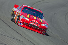 NASCAR:  Oct 08 Pepsi Max 400. FONTANA, CA - OCT 08, 2010:  McDonald's driver, Jamie McMurray, wins the pole for the Pepsi Max 400 race at the Auto Club Speedway Royalty Free Stock Photo