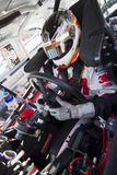 NASCAR:  Oct 08 Pepsi Max 400. FONTANA, CA - OCT 08, 2010:  Greg Biffle prepares himself for a practice session for the Pepsi Max 400 race at the Auto Club Royalty Free Stock Image