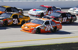 NASCAR:  Oct 29 Amp Energy Juice 500. TALLADEGA, AL - OCT 29, 2010:  The NASCAR Sprint Cup Series teams take to the track for the final practice session for the Stock Photography