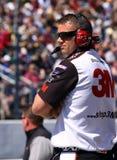 NASCAR - Ojo vigilante del jefe de equipo Imagen de archivo