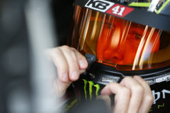 NASCAR: Am 6. Oktober Bank of Amerika 500 Lizenzfreies Stockbild