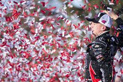 NASCAR: 20 oktober Loterij 300 van Kansas stock foto