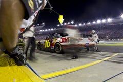 NASCAR: Parada del hueco de Greg Biffle Foto de archivo