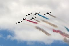 NASCAR: Patriots flyover Royalty Free Stock Photography