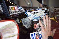 NASCAR: Petróleo sintetizado 200 de la púrpura real del 7 de mayo Foto de archivo libre de regalías