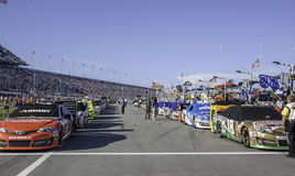 Nascar Pit Area Royalty Free Stock Photo