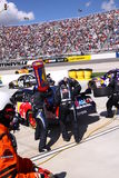 NASCAR - Pit Crew in Action! Royalty Free Stock Photography
