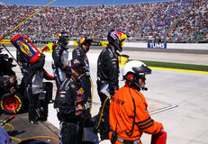 NASCAR - Pit Crew - Anticipation! Stock Images