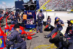 NASCAR - Pit Crew Relaxing Royalty Free Stock Photo