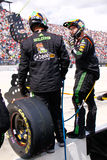 NASCAR - Pit Crew Tire Changing Team Royalty Free Stock Photos