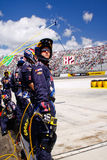 NASCAR - Pit Crew On the Wall Royalty Free Stock Images