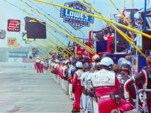 NASCAR Pit Road. Stock Photo