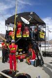NASCAR pit road at Phoenix International Raceway. Pit crew Stock Photos
