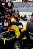 NASCAR pit road at Phoenix International Raceway. Pit crew member Royalty Free Stock Photo