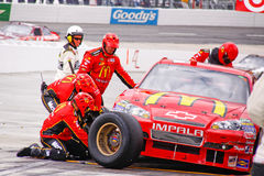 NASCAR - Pit Stop Tire Change Stock Photo