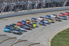 Nascar Race. Start of Nascar race Geico 400 at Chicagoland Speedway royalty free stock photos