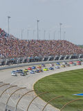 Nascar Race. Start of Nascar Geico 400 at Chicagoland Speedway stock photography