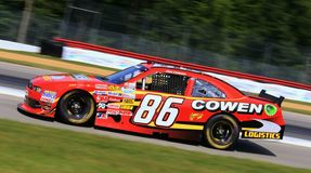 NASCAR race. NASCAR driver Tim Cowen races the ford mustang for Cowen Logistics Ford royalty free stock images