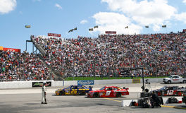 NASCAR - Race off Pit Road in Martinsville Royalty Free Stock Photography