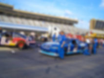 Nascar Race Pit Row. Blurred Background Image of Pit Row at a NASCAR Race stock photo