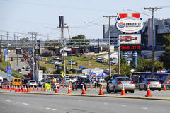 NASCAR - Race Traffic Pre Race Charlotte Stock Image