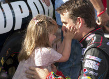 NASCAR racer Jeff Gordon and daughter Stock Photography
