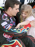 NASCAR racer Jeff Gordon and daughter Stock Images