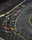 NASCAR - Racing through Turn 1! Stock Photo