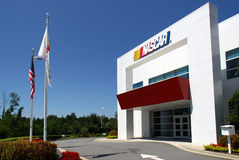 NASCAR Research and Development Center. The NASCAR Research and Development Center is located in Concord, NC. It is the facility where NASCAR engineers design royalty free stock image