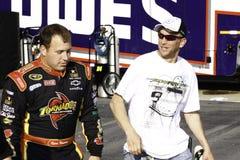 NASCAR - Ryan Newman och en ventilator Arkivbild